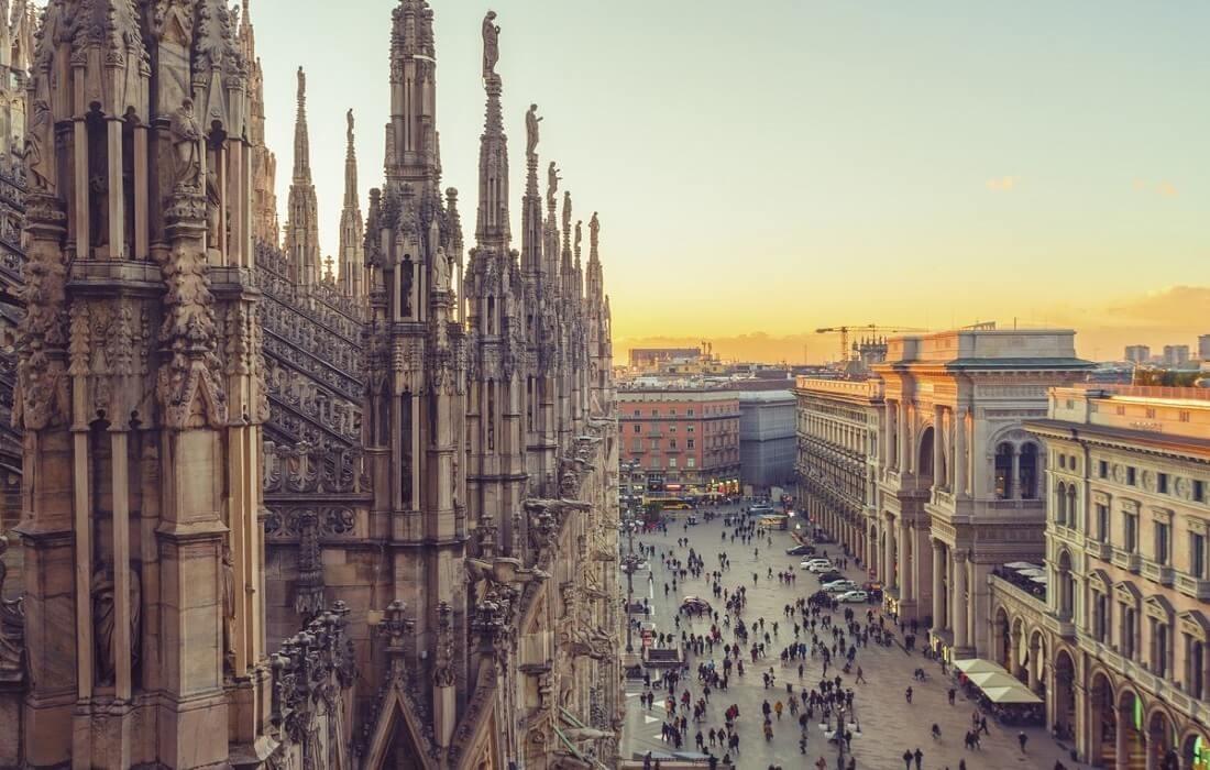 Tyskland, Schweiz og Italien med tog 12 dage / 11 nat - Milano