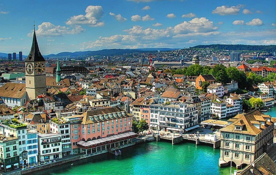 Interrail Tyskland, Schweiz, Østrig: 9 dage / 8 nat - Zürich